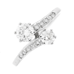 Bague TOI & MOI diamants 0.70 carat en or blanc
