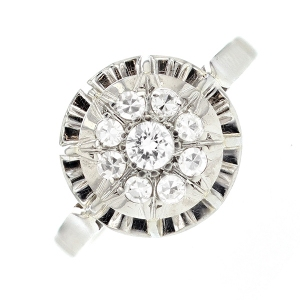 Bague diamants 0.30 carat en or blanc