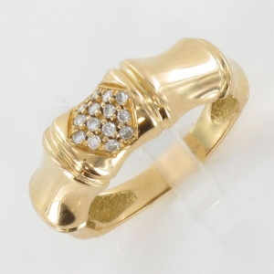 1c5cd55a80202 Korloff bague bambou or jaune diamant
