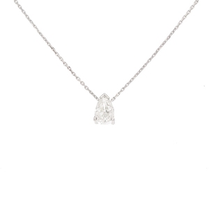 Collier diamants 1 carat en or blanc