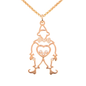 Collier signé CHOPARD diamants 0.30 carat en or rose