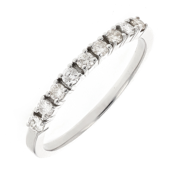 Alliance diamants 0.29 carat en or blanc