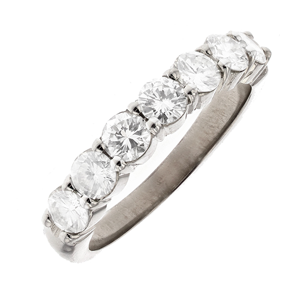 Alliance diamants 1.18 carat en or blanc