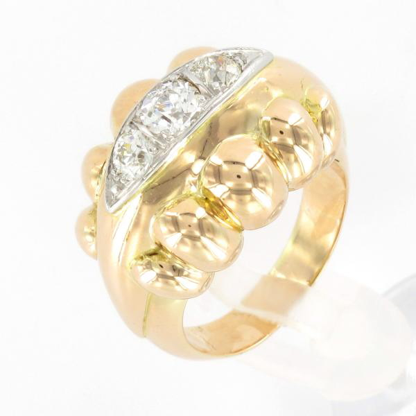 Bague Ancienne 1940 Or Jaune Diamants