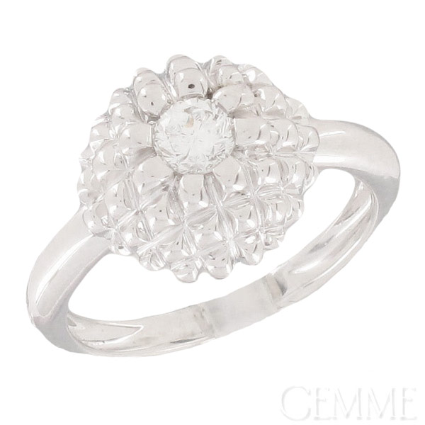 Bague Diamant 0.25  carat Or Blanc
