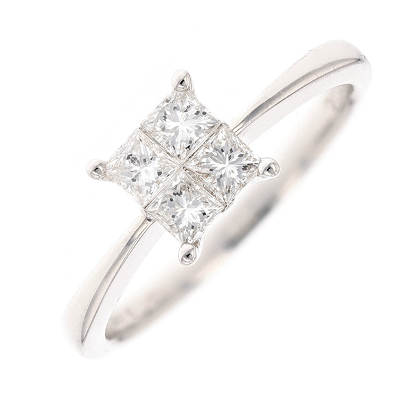 Bague diamants 0.52 carat en or blanc