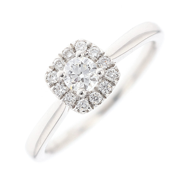 Bague diamants 0.36 carat en or blanc