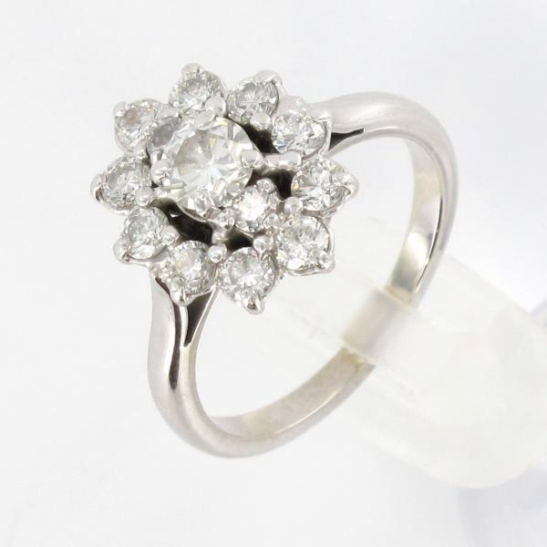 Souvent Bague marguerite or blanc diamants BY92