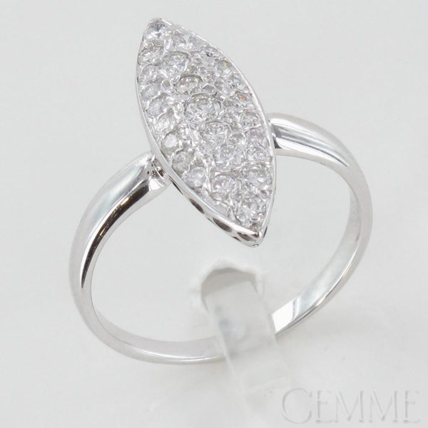 bague marquise or blanc diamant taille moderne