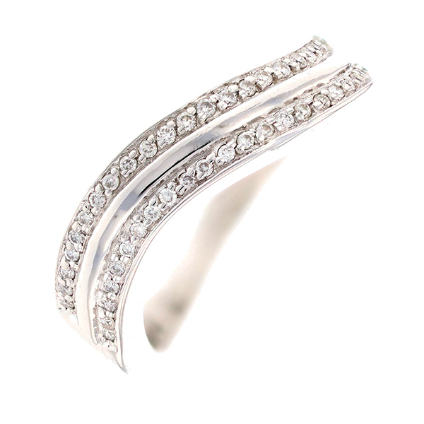 Bague vague diamants 0.25 carat en or blanc