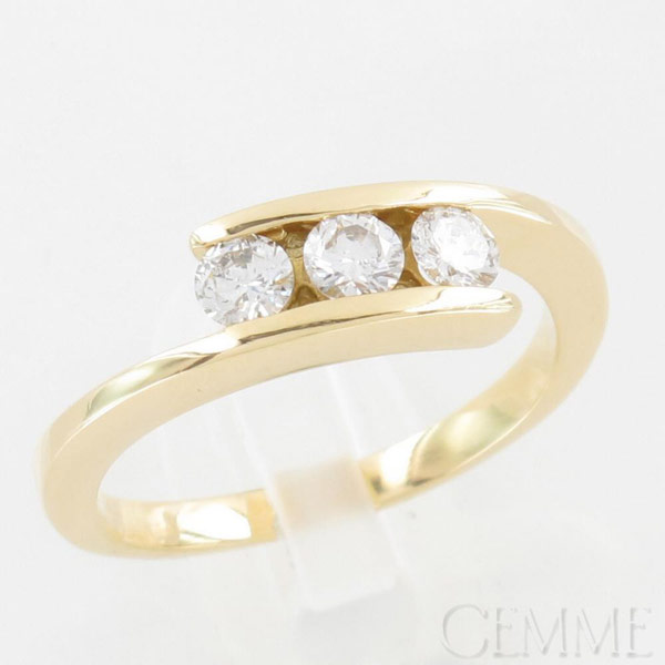 Bague Trilogie Or Jaune Diamant