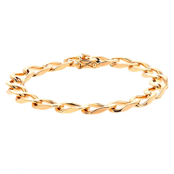 Bracelet maille contemporaine en or jaune 27.18grs