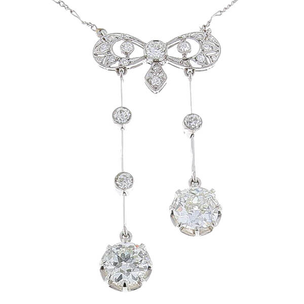 Collier négligé diamants 2,50 carats en platine