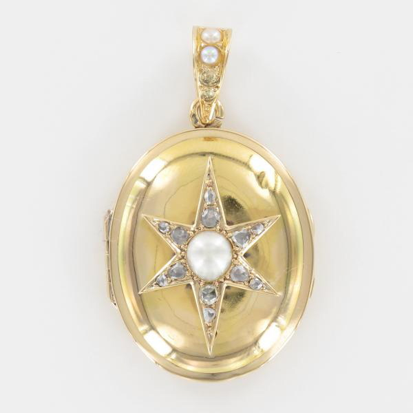 Pendentif ouvrant or