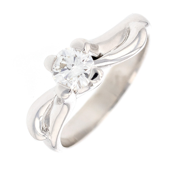 Bague solitaire diamant 0.50 carat en or blanc