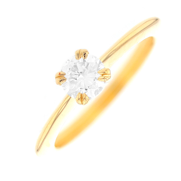 Solitaire diamant 0.50 carat en or jaune